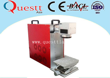 China Desktop Fiber Laser Marking Machine 20 Watt Laptop Free Mark Area Adjustable supplier