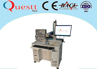 China Long Lifetime Fiber Laser Marking Machine 30W Power 3 Axis / Z Axis For Lamp Bulb supplier