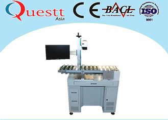 China Automatic Fiber Laser Marking Machine With Automatic Conveyor Device Transferring supplier
