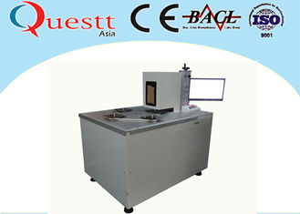 China Automatic Optical Fiber Laser Marking Machine For Saw Blade Etching , Jig Customized supplier