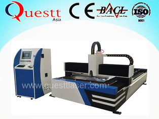 China Big Power 1000w Fiber Laser Cutting Machine For Metal , 1300x2500 Work Table supplier