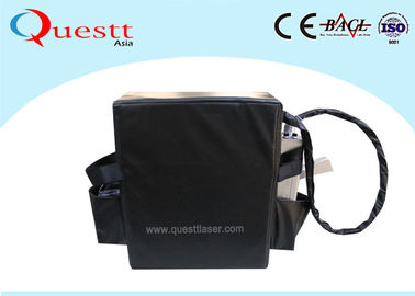 China Black Backpack Laser Rust Removal Machine 50w 100w Handheld Mopa Laser supplier