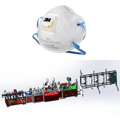 China Disposable FFP2 FFP3 N95 Non Woven Mask Making Machine With Full Automatic supplier