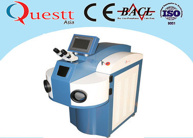 China Water Chiller YAG Laser Gold Laser Welding Machine 200 / 300 / 400W With 10X Microscope factory