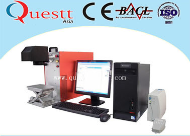 China Laptop Control Portable Fiber Laser Marking Machine For Metal / Non Metal Material factory