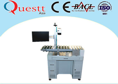 China Automatic Fiber Laser Marking Machine With Automatic Conveyor Device Transferring factory