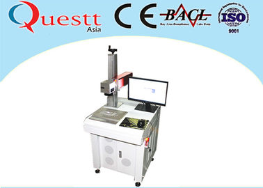 China Metal Laser Marking Machine 20W Imported Scanner Rotary Device factory