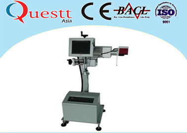 China 30W Metal Laser Marker / Portable Laser Marking Machine For Ceramic , Head Adjustabe factory