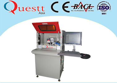 China High Precision Automatic Fiber Laser Marking Machine With 2 Station Rotate Table factory
