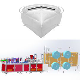 FFP2 FFP3 N95 KN95 Fold Non Woven Mask Making Machine Semi-auto System with CE
