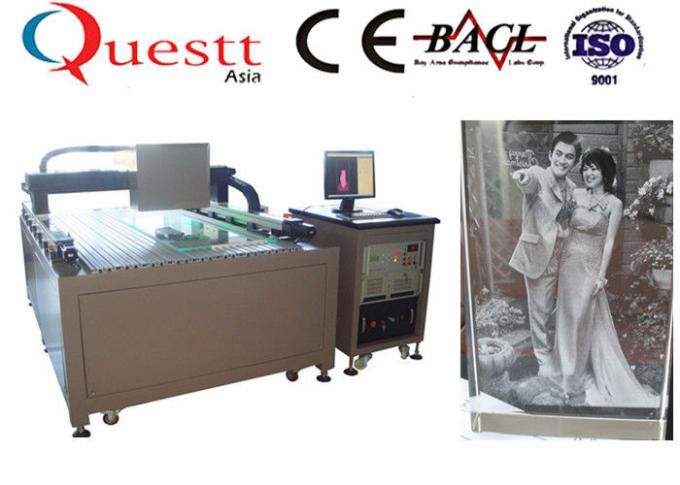 Low Running Cost 3D Crystal Laser Engraving Machine 0.07-0.12mm Engraving Dot Pitch