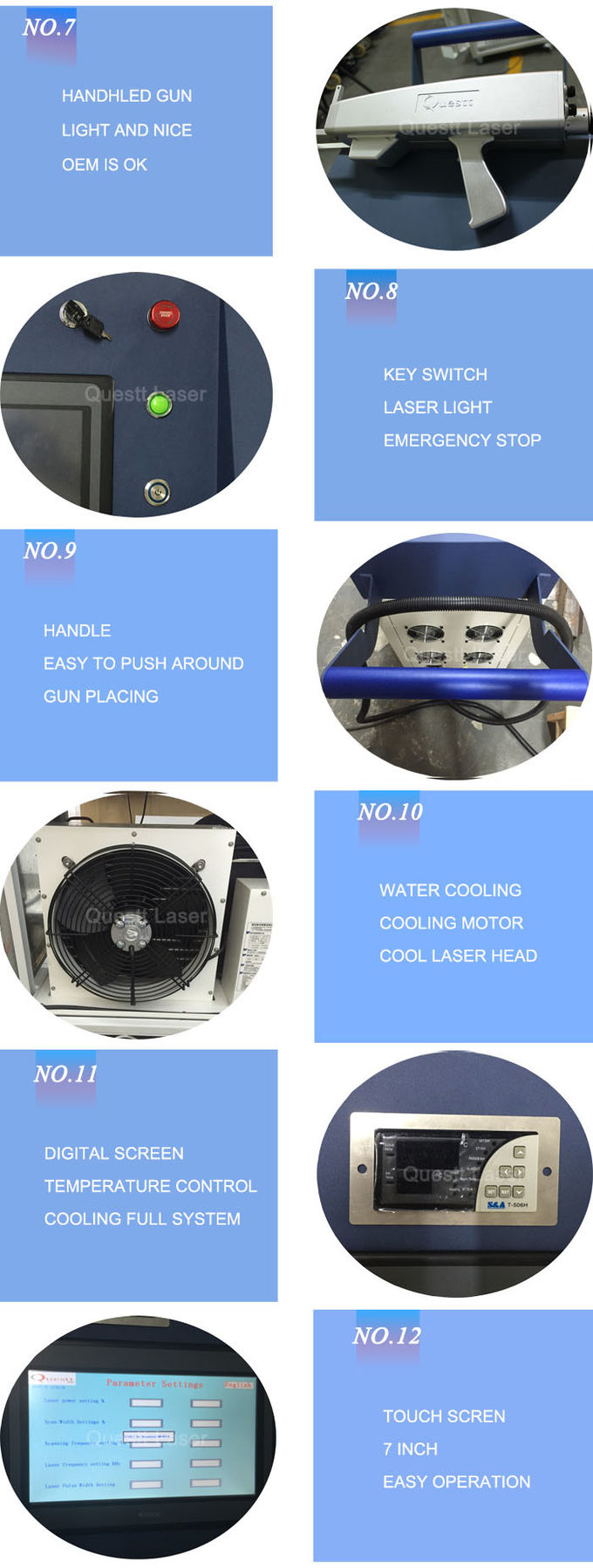 2000W Industrial Laser Cleaning Machine , Laser Rust Removal Equipment