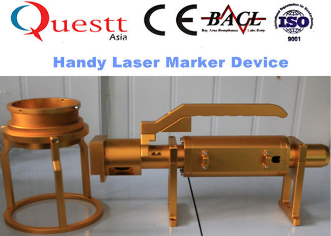 Laptop Control Portable Fiber Laser Marking Machine For Metal / Non Metal Material