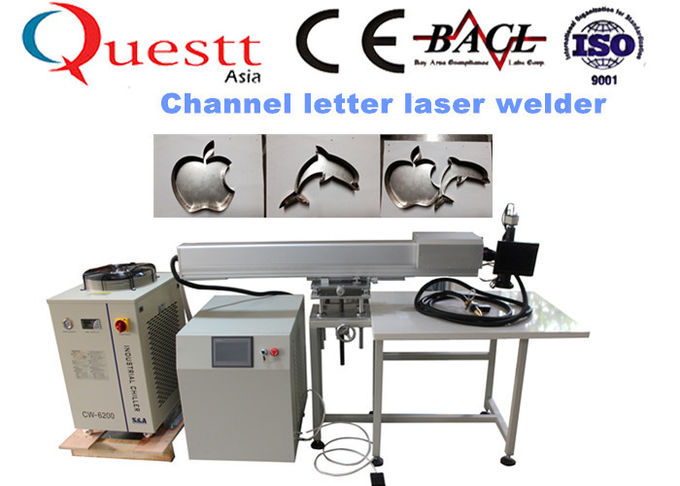 YAG Channel Letter Fiber Laser Welding Machine 300W CCD Display For ADs Board