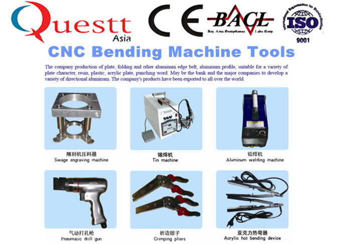 Aluminum Profile Bending Machine Notching 0.4 - 1.2mm Thickness For Channel Letter Signs