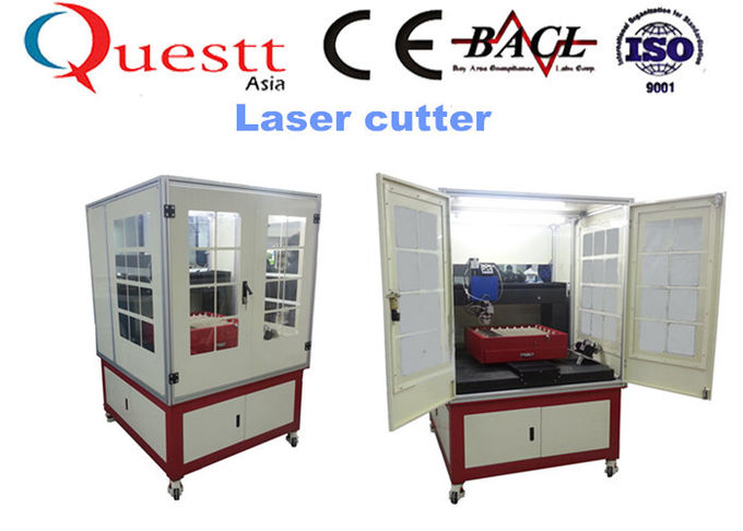 Water Cooling Precision Laser Cutting Machine 300 Watt With Sealed Working Table