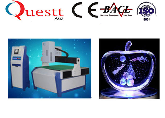Big Size Glass 3D Crystal Laser Engraving Machine 3W Green Laser 800x1200x150mm
