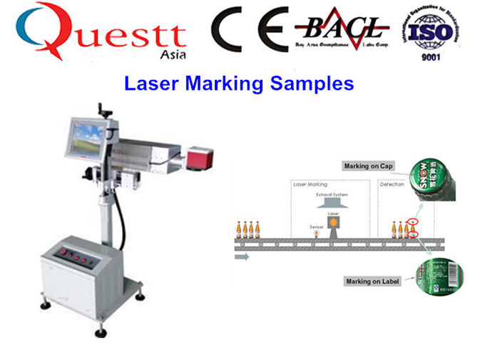 20 Watt Automatically Fiber Laser Marking Machine With 1064nm Wave Length , 20-100kHz