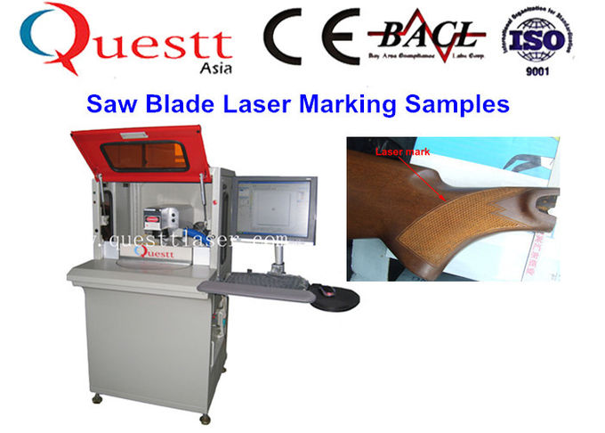 High Precision Automatic Fiber Laser Marking Machine With 2 Station Rotate Table