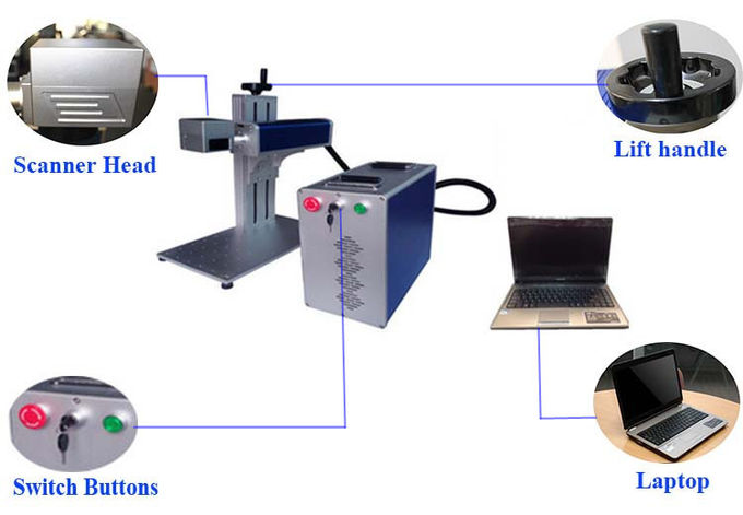 Portable Laser Marking Machine For Bangle , Air Cooling Desktop Engraving Machine